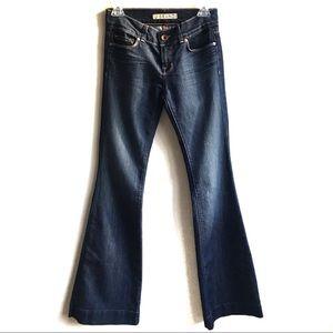 J Brand Bell Bottom Flare Dark Wash Jeans 26 Long